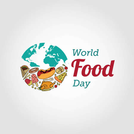 World Food Day Vector Illustration. Suitable for greeting card, poster and banner. Illustration