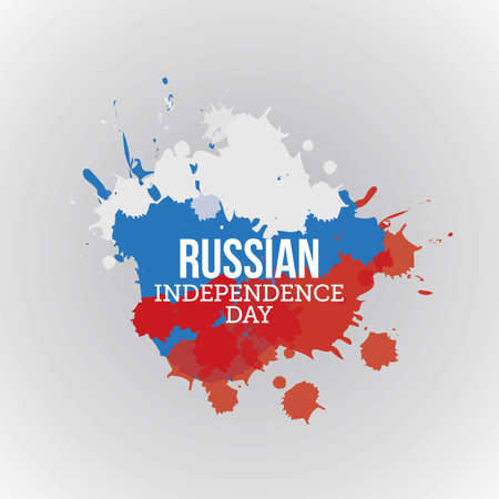 Russian Independence Day Vector Illustration