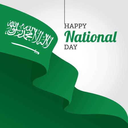 Bonne fête nationale d'Arabie Saoudite Illustration Vecteur