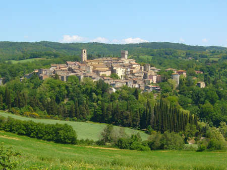 picturesque: The picturesque medieval village of San Casciano dei Bagni in Tuscany