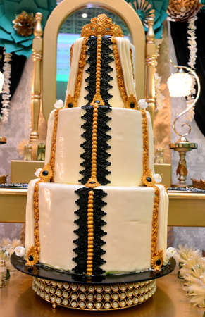 Wedding cake in the shape of the famous Moroccan caftan. Moroccan sweets