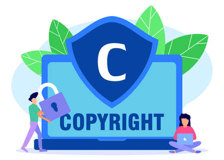 Vector illustration, imitating thinking one's ideas, impure creations. Created illegally. Copyright protection.