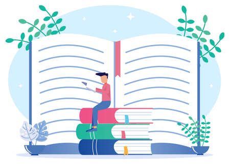 Book icons as literary meanings and the author's moral ideas on the concept of education. A method of presenting creative ideas with hidden information. Publishing events for blogs, poems or novels. Vecteurs