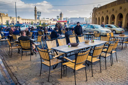 coffeeshop: Old coffeeshop in Ebil city near the famouse castle of the city Editorial