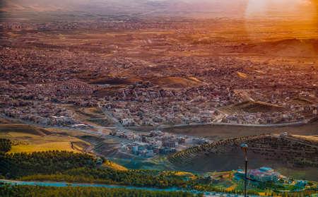 aerial view of Sulaimaniyah city from Azmar mountain in Kurdistand region in Iraq Reklamní fotografie