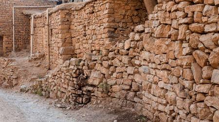 Starověké zdi domu v iráckém venkově se nachází v Kurdistánu regionu poblíž Sulaimanya City Reklamní fotografie