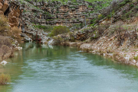 Dijla River branch in Iraqi Kurdistan region flowing from high mountains