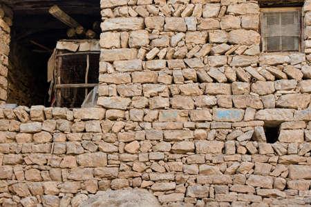 Staré kamenné zdi v iráckém přírodě nedaleko města Erbil Reklamní fotografie
