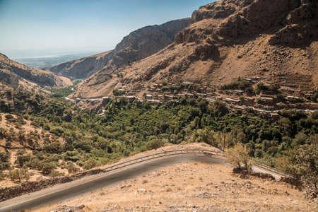 Pohled na horské oblasti v oblasti Kurdistánu v blízkosti města Sulaimanya v létě Reklamní fotografie