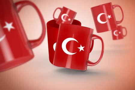 Turkish Flag, Turkey Design and Presentation