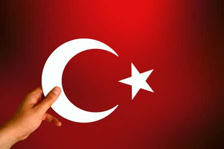 Flag, Turkish Flag, Turkey Stock Photo