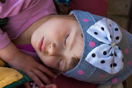 peacefully: Portrait of peacefully sleeping little girl Stock Photo