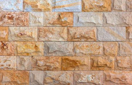 yellow stone: Yellow stone bricks pattern background Stock Photo