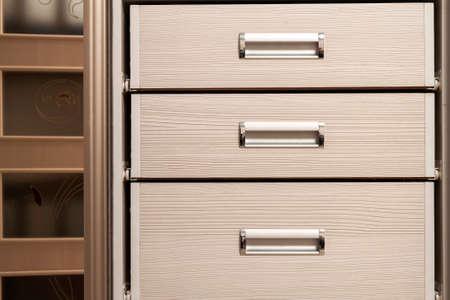 Die Alte Retro-Vintage Aus Holz Schublade Im Haus Für Die Lagerung ...