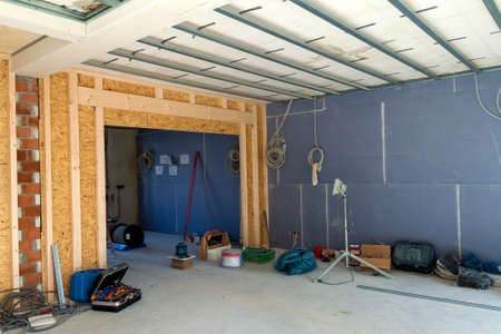 Interior of a house under construction. Renovation of an apartment