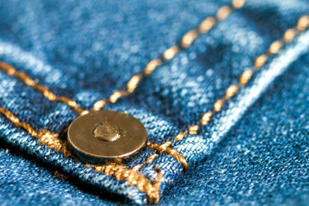 Detail of blue jeans close up Stock Photo