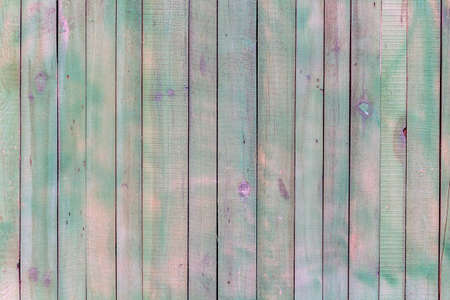 Green wooden boards for usage as vintage background Stock Photo