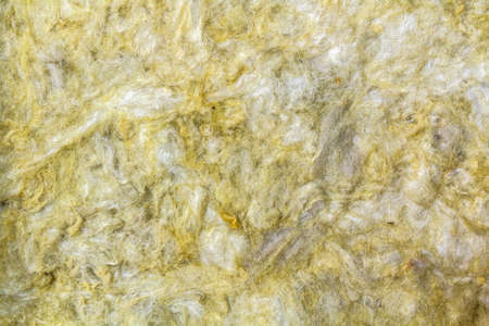 Mineral rock wool insulation material close-up for background