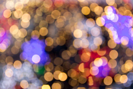 Beautiful soft multicolor bokeh background. Defocused lights pattern.