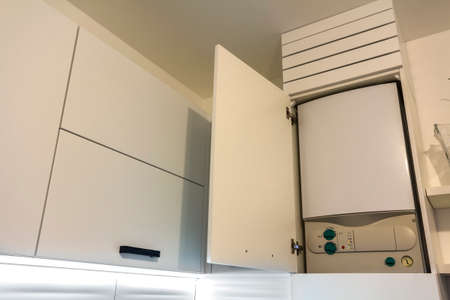 Home Gas Water Heater Boiler In Kitchen Furniture For Apartment ...