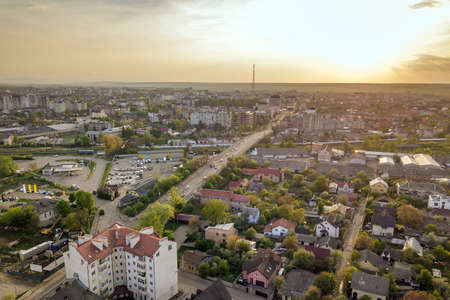 Aerial view of Ivano-Frankivsk city, Ukraine.