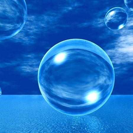 glas: Blasen aus Glas Stock Photo