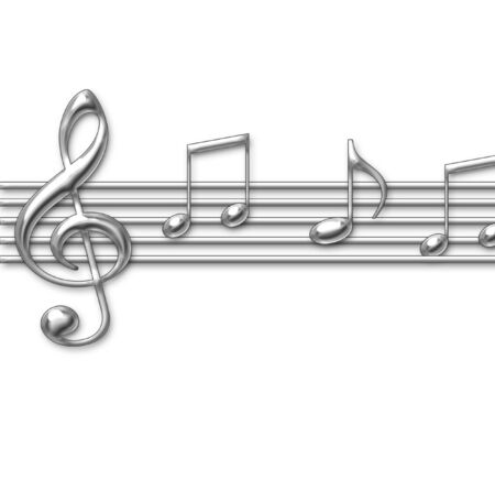 chrom: Musiknoten