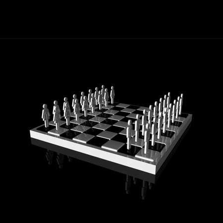glanz: Pr�sentation Schachbrett mit Symbolen