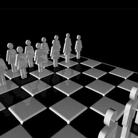 glanz: Präsentation Schachbrett mit Symbolen