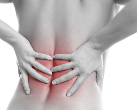 woman back of head: back pain