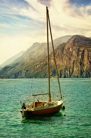 Yacht at Lake Garda in Italy