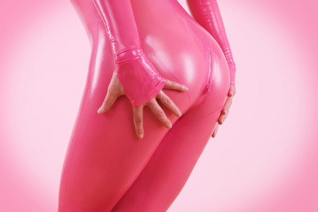woman and latex