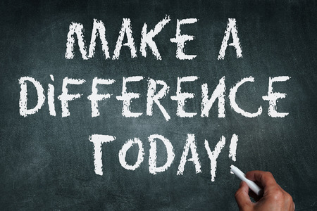 make a difference today Standard-Bild