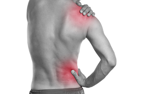 male massage: back pain