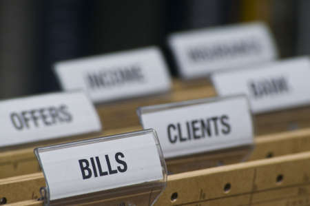 accountancy: tabs on file folders in the accountancy