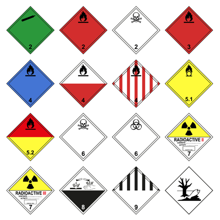 ADR vehicle sign vector isolated on white background Standard-Bild - 117795465