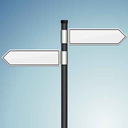 blank signpost with 3d effect template Illustration