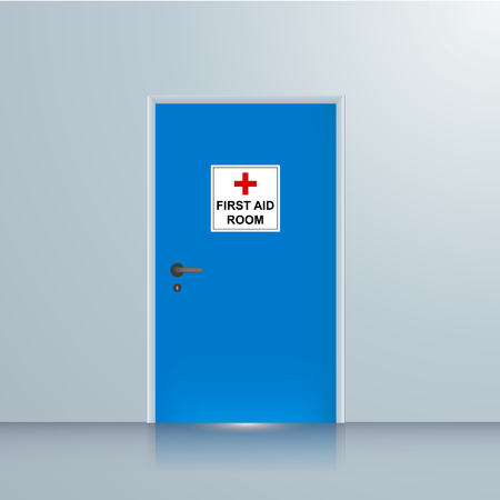first aid room vector illustration Illustration