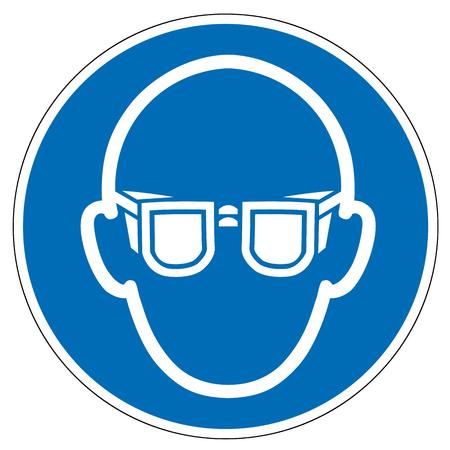 mandatory sign eye protection isolated on white background