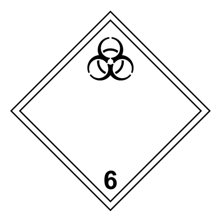 ADR classe 6.2 segno isolato su sfondo bianco Vettoriali
