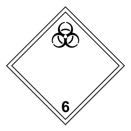 ADR classe 6.2 signe isolé sur fond blanc Vecteurs