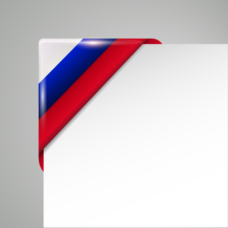 russia flag corner isolated vector illustration
