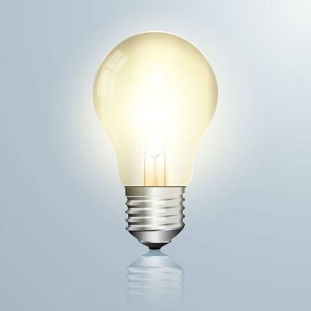 Light bulb vector illustration isolated on white background.