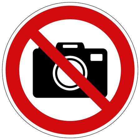 Do not take photos vector sign isolated on white background