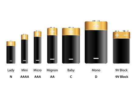 Battery types vector infographic illustration isolated on white background Illustration