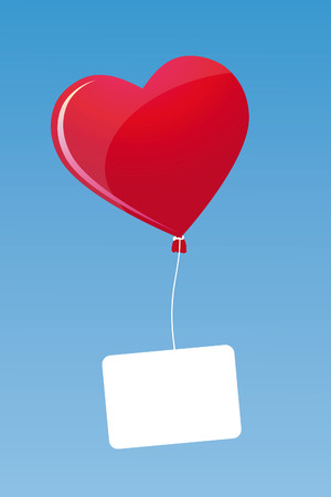 Flying heart with post Stock Vector - 8854584