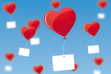 marry: Heart shaped balloons