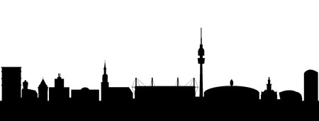 Dortmund Germany Silhouette Vector