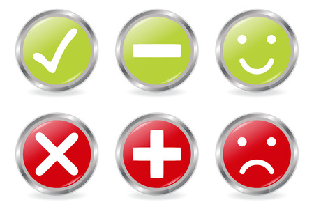 Buttons Of Validation Icons Vector