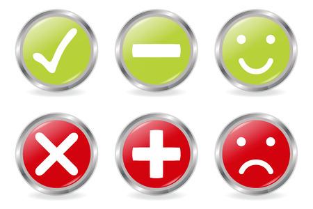 Knoppen voor validatie Icons